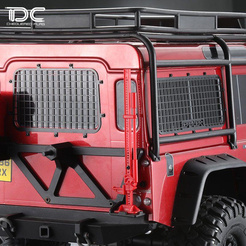 Ventana de malla valla de acero inoxidable red de protección para 1/10 traxxas trx-4 TRX4 land rover guardia RC crawler car piezas de actualización