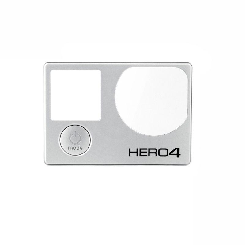 Передняя панель для GoPro Hero 4 спереди Панель Обложка Лицевая панель с кнопки mode ремонт Запчасти Замена Серебро для GoPro Интимные аксессуары