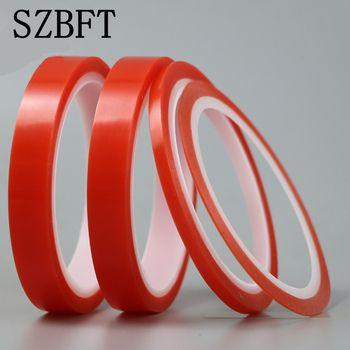 SZBFT 2rolls3mm * 5 M Forte animal Adhésif PET Rouge Film Effacer Double Face Bande Aucune Trace pour Téléphone LCD écran livraison gratuite