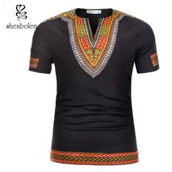Shenbolen african men clothes dashiki summer fashion t-Shirt african clothes Men's Tops