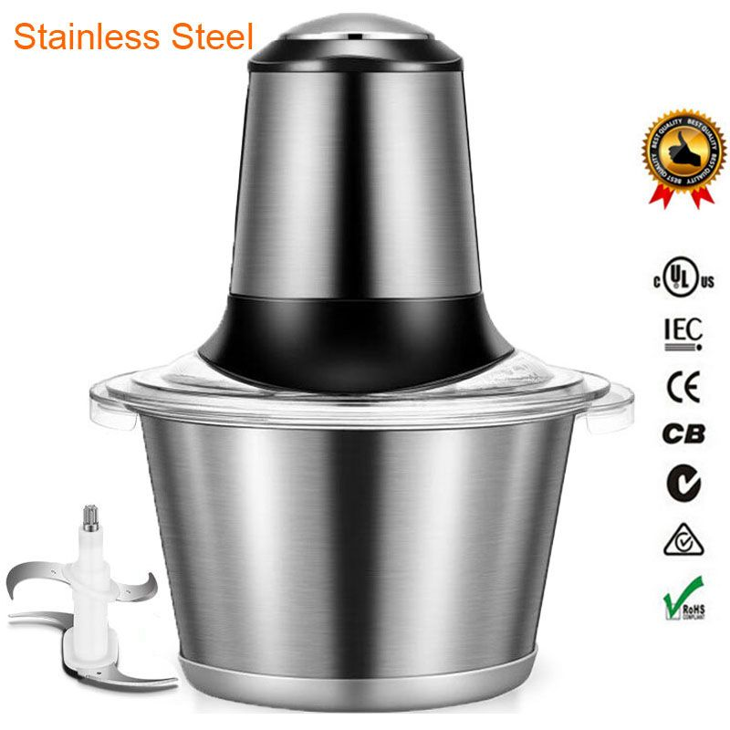 Stainless Steel Meat Grinder Chopper Electric Automatic Mincing Machine High-quality <font><b>Household</b></font> Grinder Food Processor