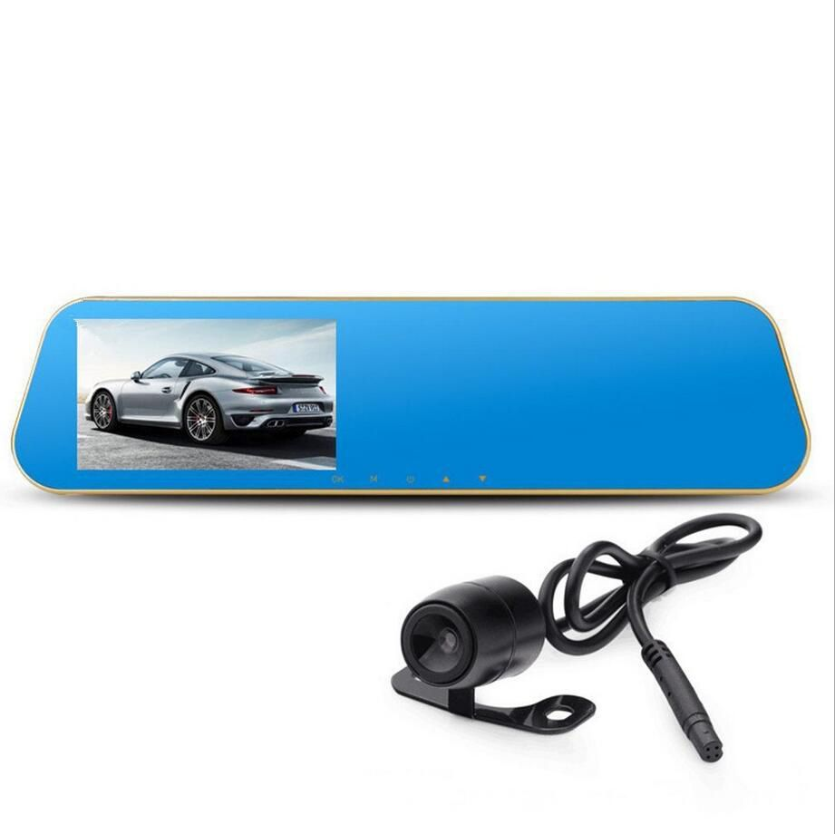 car DVR camera rearview mirror auto dvrs dual lens dash cam video registrator camcorder Full HD 1080p night vision