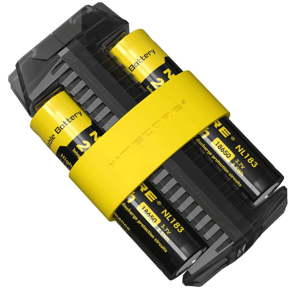 NITECORE F2 USB Charger with 2 x 18650 Battery Flexible Power Bank 2A Smart 2 Slot Power Source Portable Lighting Accessories