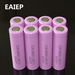 8pcs/lot Original 18650 3.7V 2600mAh LI-Ion batteries EAIEP rechargeable Battery ICR18650-26FM safe batteries Industrial use