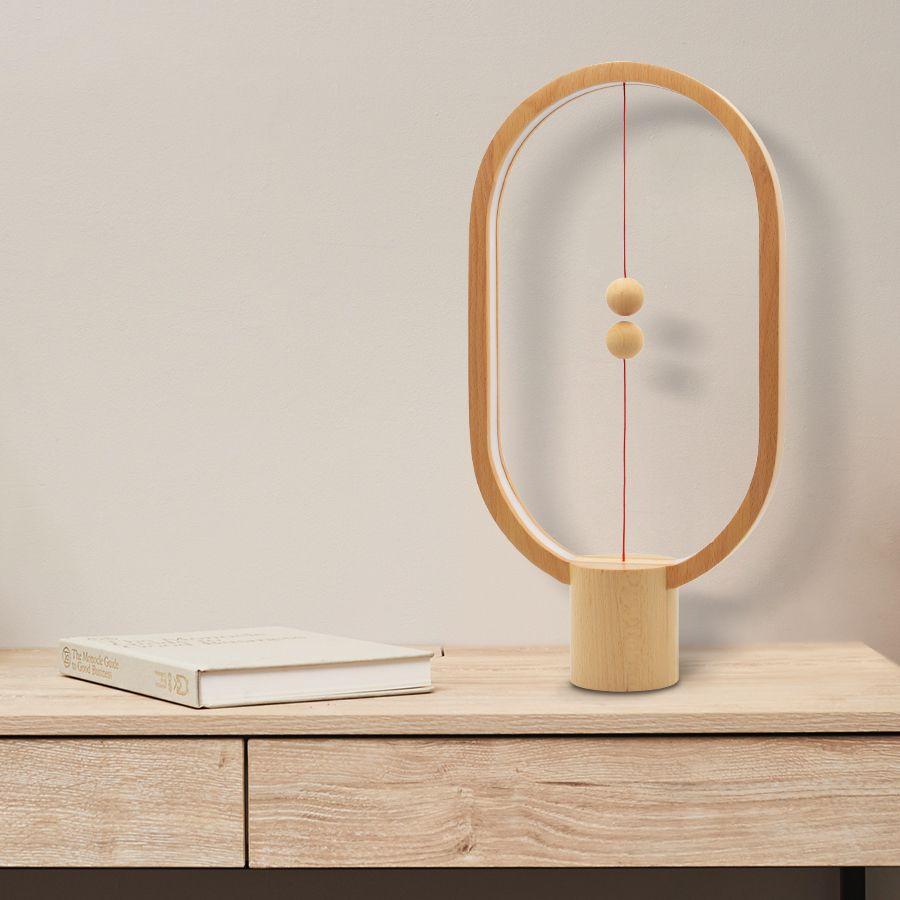 Livraison directe Heng Équilibre Nuit Lumière Smart lampe à led USB Charge décoration intérieure de maison Chambre Lumières Creative cadeau de noël pour enfant