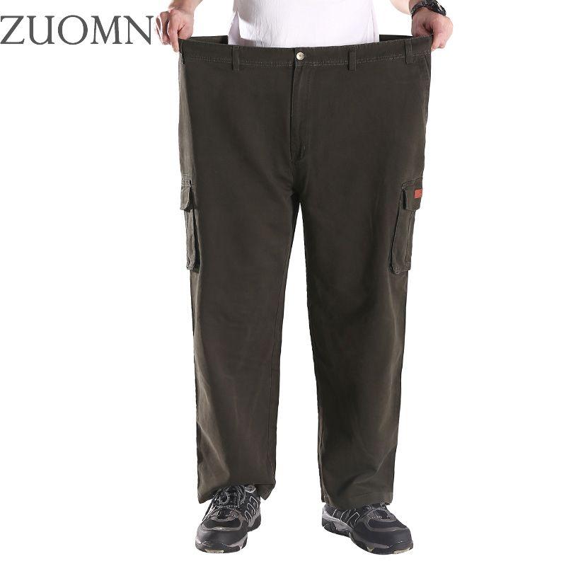 Große Größe männer Cargohose Multi Taschen Hosen Lose Große Männer Army Military Tactical camo Einheitliche Hosen Top Baumwolle G9
