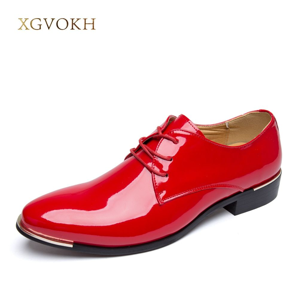 Mens Shoes Dress Glossy White Flat Wedding Shoes Patent Leather Casual Solid Luxury Brand Italy Brand Oxfords Shoes for Men