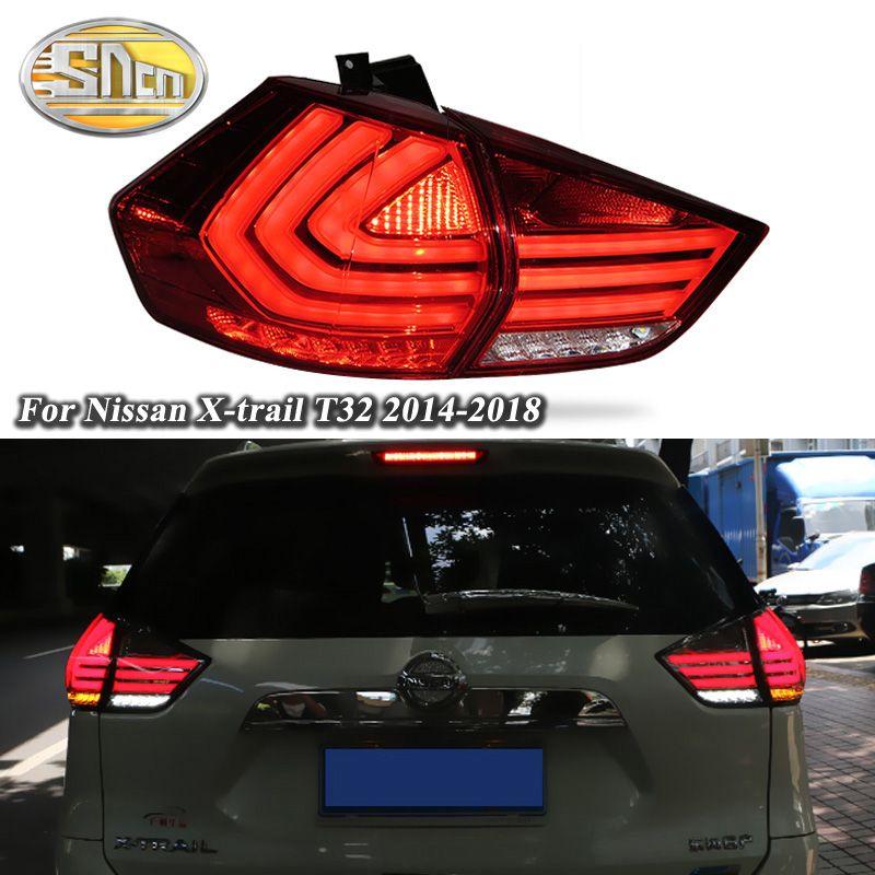 Auto LED Rücklicht Rücklicht Für Nissan X-trail T32 2014-2018 Hinten Laufende Licht + Bremse Licht + Reverse + Blinker Licht