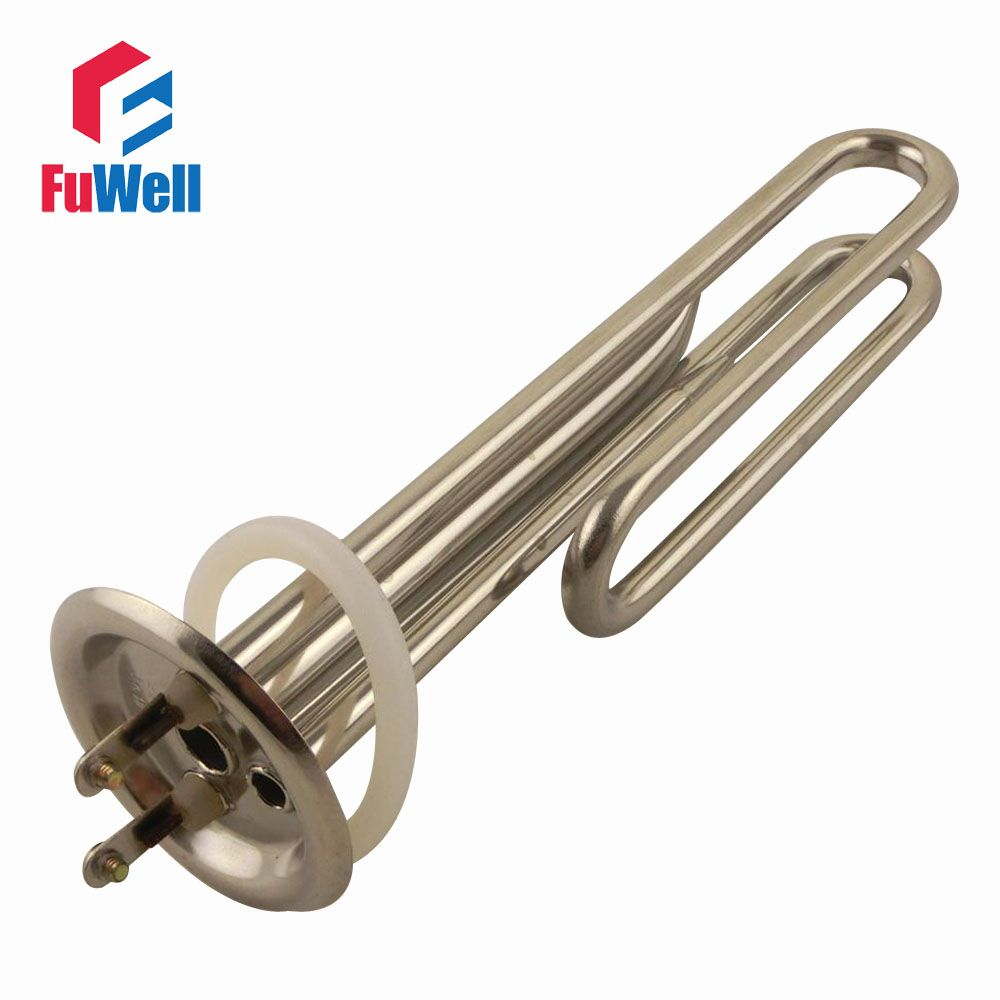 Stainless Steel Heating Tube Element 220V 3KW 210mm Tube Length Electric Water Heater Pipe