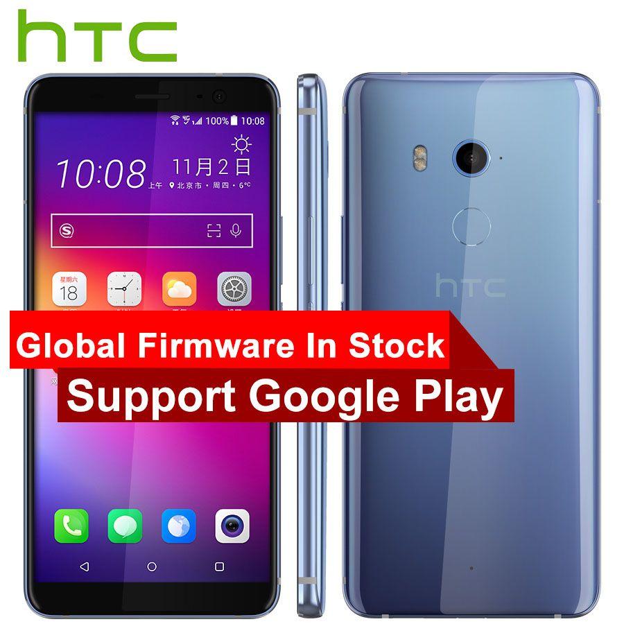 Nuevo HTC U11 más teléfono móvil 6 GB 128 GB Snapdragon 835 octa Core 6.0 pulgadas 1440x2880 p android 8.0 IP68 impermeable a prueba de polvo teléfono