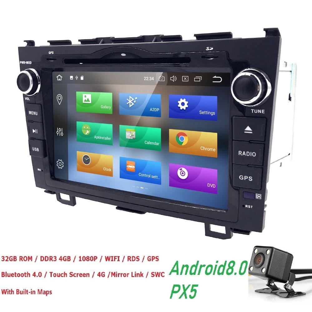 4g + 32g Android8.0 Auto dvd-Video-player Für Honda CRV 2006-2011 8 OctaCore 8 zoll 2Din Auto DVD Radio GPS Navigation TPMS OBDII DVBT