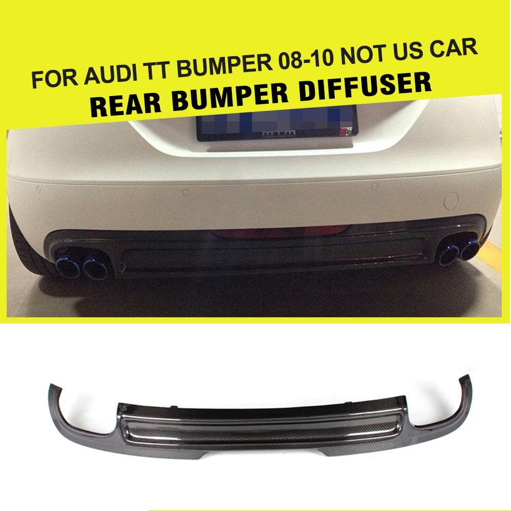 Carbon Fiber Rear Bumper Lip Diffuser for Audi TT 8J Standard Bumper 2008-2010