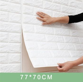 70x77cm DIY 3D Wall Stickers PE Foam Safty Home Decor Wallpaper  Wall Decor Brick Living Room Kids Bedroom Decorative Sticker