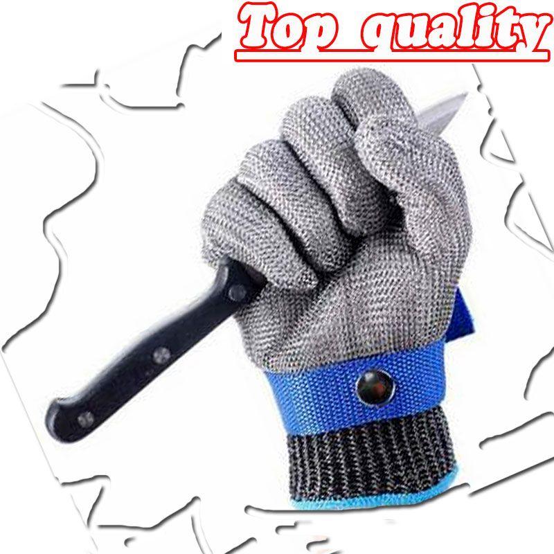 NMSafety Hig qualité Sécurité Cut Preuve Protect Gant 100% En Acier Inoxydable Metal Mesh Boucheries Gants AISI 316L