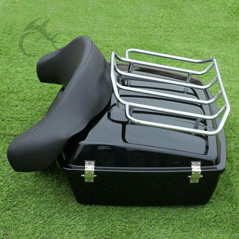 Chopped Tour Pak Trunk W/ Backrest Rack For Harley Road King Street Electra Glide FLH FLT 97-13
