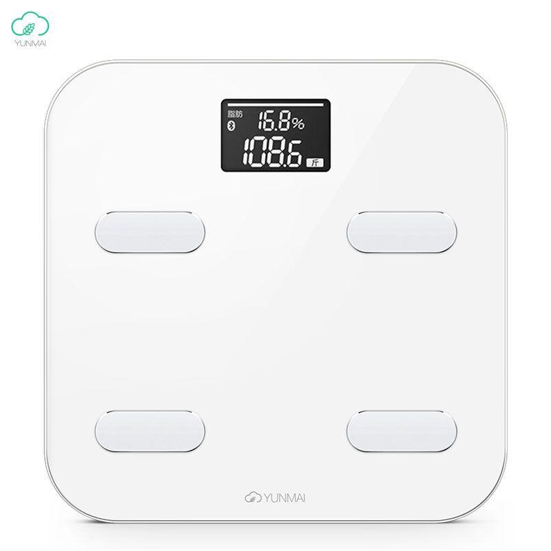 Original Xiaomi Yunmai Version internationale couleur balance de poids intelligente numérique graisse corporelle santé échelle 10 Date du corps balance de pondération