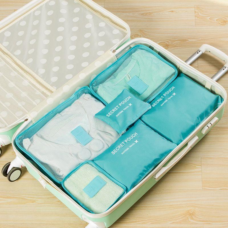6 шт. в одном наборе дорожная сумка Косметическая косметичка макияж сумки и чехлы Kosmetiktasche Organisateur De Sac основной Organizador Bolso