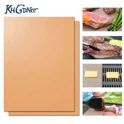 New Heat Resistant BBQ Grill Mat Copper Bakeware Mat Barbecue Roast Sheet Portable Easy Clean Grill Pad BBQ Tool
