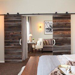 3000mm à 4880mm Double Coulissante Grange Porte Heavy duty moderne en bois coulissante grange quincaillerie de porte