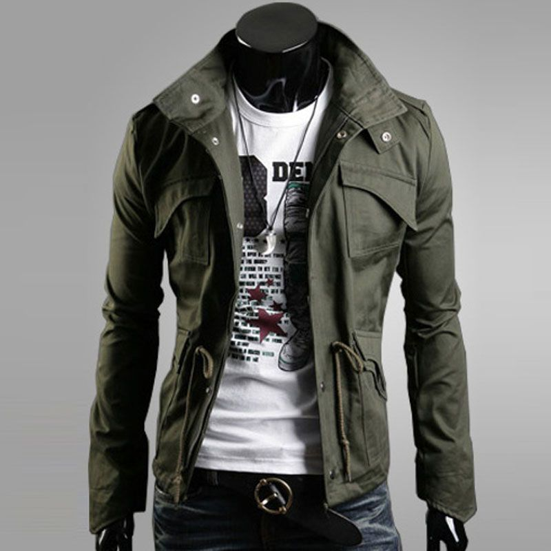 Men Jacket 2018 New Cotton Slim Single Breasted Jackets Coat Male Jaqueta Masculina Pilot Outerwear Denim Jackets Large Size 4XL