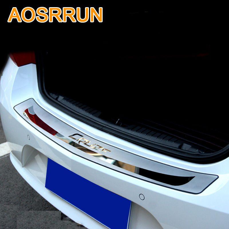 AOSRRUN For Chevrolet cruze 2009-2013 Sedan Car-Stying After guard Rear Bumper Trunk Guard Door Sill Plate Car Accessories