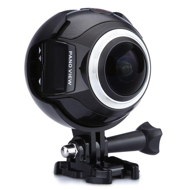 360 Cámara Cámara de Acción WIFI Ultra HD 3 K 30fps Excelvan 16MP Acción deporte Cámara 360 Grados de Mini Cámara de Vídeo Panorámico 3D VR