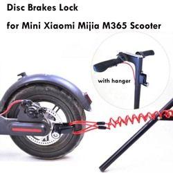 Portable Electric Skateboard Lock Disc Brakes Wheels Lock for Xiaomi Mijia M365 Scooter Skate Board Anti-theft Metal Steel Wire
