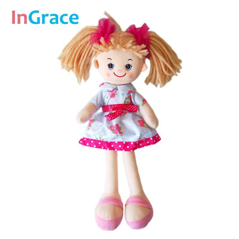 InGrace marque mignon réaliste filles poupées cadeau d'anniversaire mode filles poupées 40 CM jouets faits à la main pour enfants filles avec chapeaux rouges