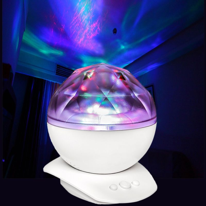 Aurora Sky Cosmos Ocean Wave LED Night Light Starry Master Projector USB Powered Diamond Music Speaker cosmos bedside decoracion
