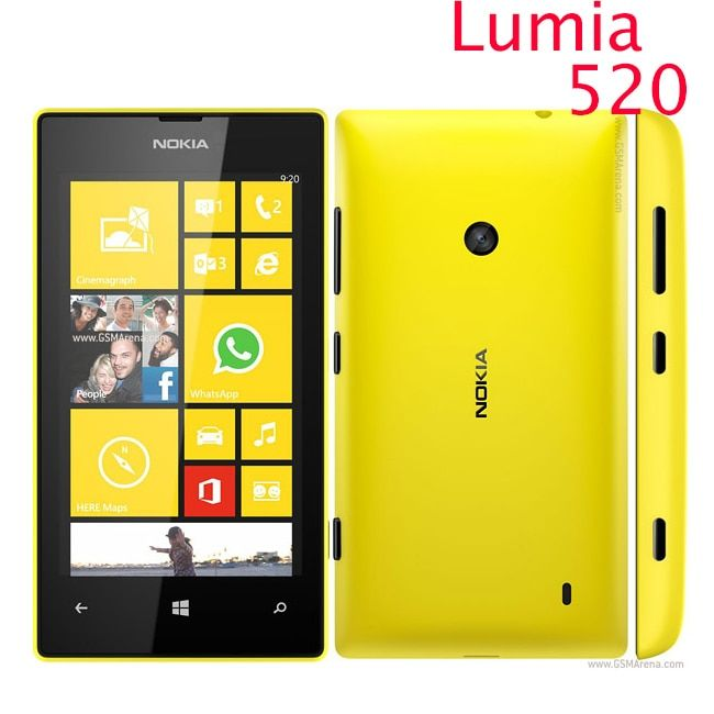 Original 520 phone Nokia Lumia 520 cell phone Dual core 8GB ROM 5MP GPS Wifi 4.0 IPS unlocked windows phone Refurbished