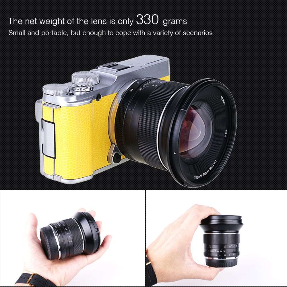 12mm F2.8 Manual Wide Angle Lens for Olympus Panasonic M4/3 MFT EM5 EM10 GH3 GH4 camera