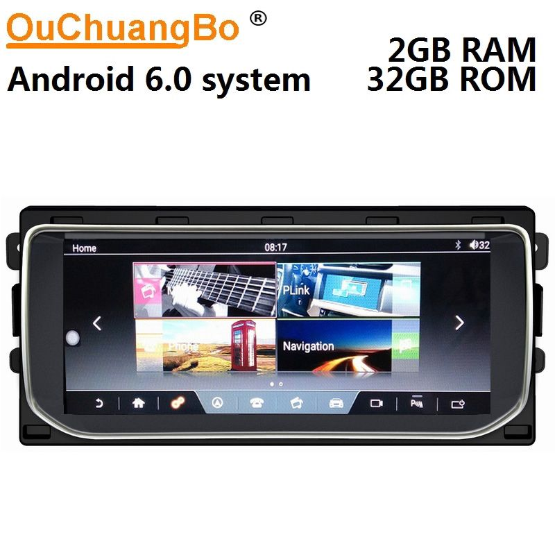 Ouchuangbo android 6.0 media radio recorder for Range Rover Vogue 2012-2016 support gps navigation 10.25 inch 2GB+32GB