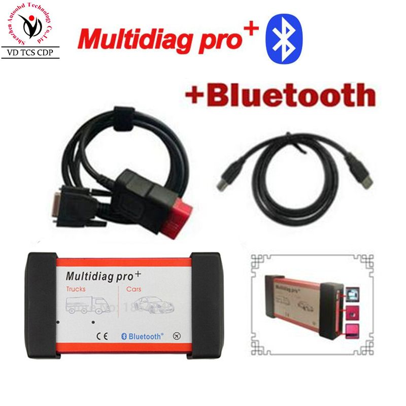 New Multidiag pro+2015.3 CD Keygen as gift free activate VD TCS CDP pro plus+bluetooth+ carton box for Cars/Trucks OBD2 Scanner