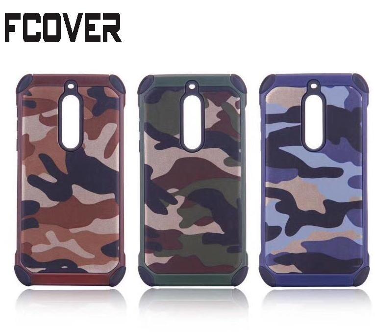 Hybride Armure Camouflage Pour Nokia 3/Nokia 5/Nokia 6 Cas Antichoc De Protection PC + TPU Doux Gel peau de Couverture Arrière