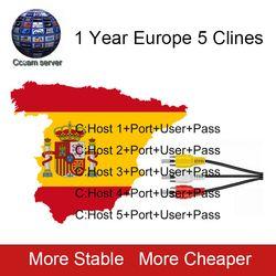 2018 nuevo 5 líneas Cccam Cline por 1 año Europa España Portugal para Freesat V8 Super, V7 HD, IKS satélite Receptor Etc