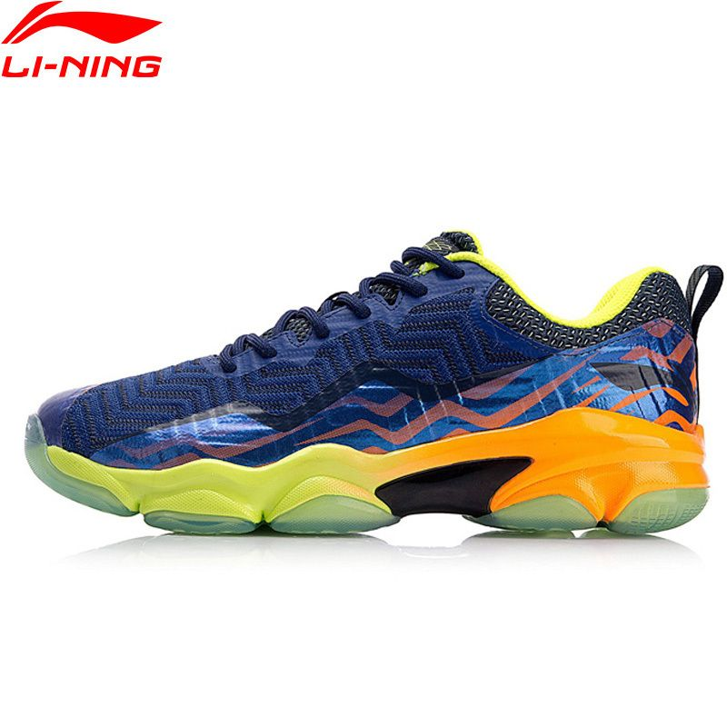2018 New Li-Ning Professional Badminton Shoes for Men Ankle Support Wearable Sports Sneakers Anti-Slippery LiNing AYZN011 Z033