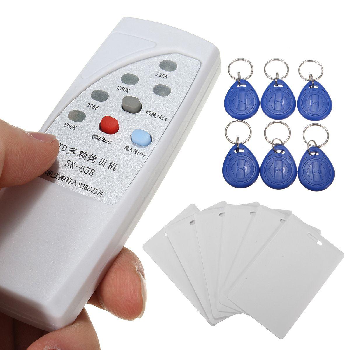 Safurance SK-658 13 stücke Handheld 125 khz RFID ID Card Reader Writer Kopierer Duplizierer Programmierer + 6 stücke Karten + 6 stücke Tags