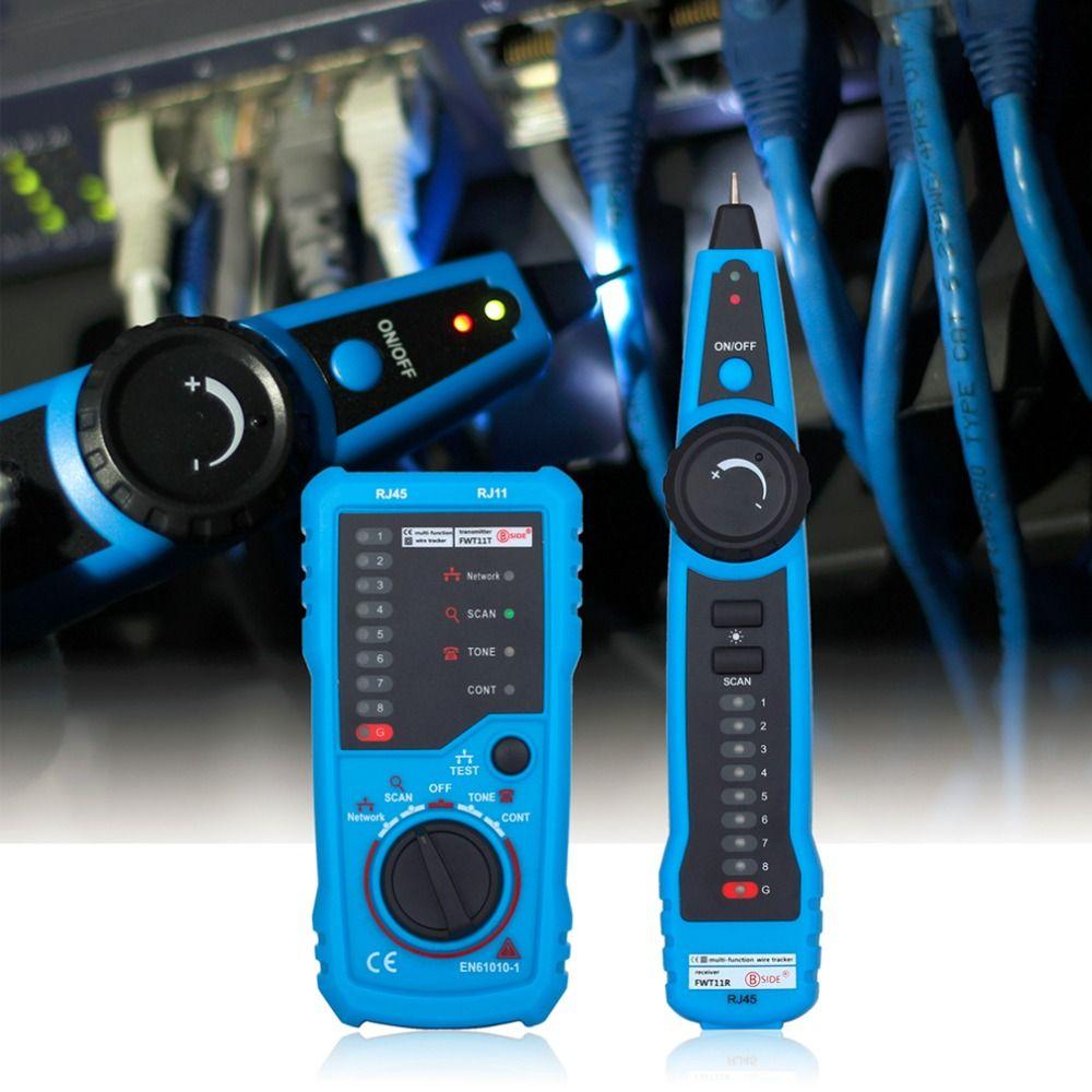 Original Bside RJ11 RJ45 Cat5 Cat6 Telephone Wire Tracker Tracer Toner Ethernet LAN Network Cable Tester Detector Line Finder