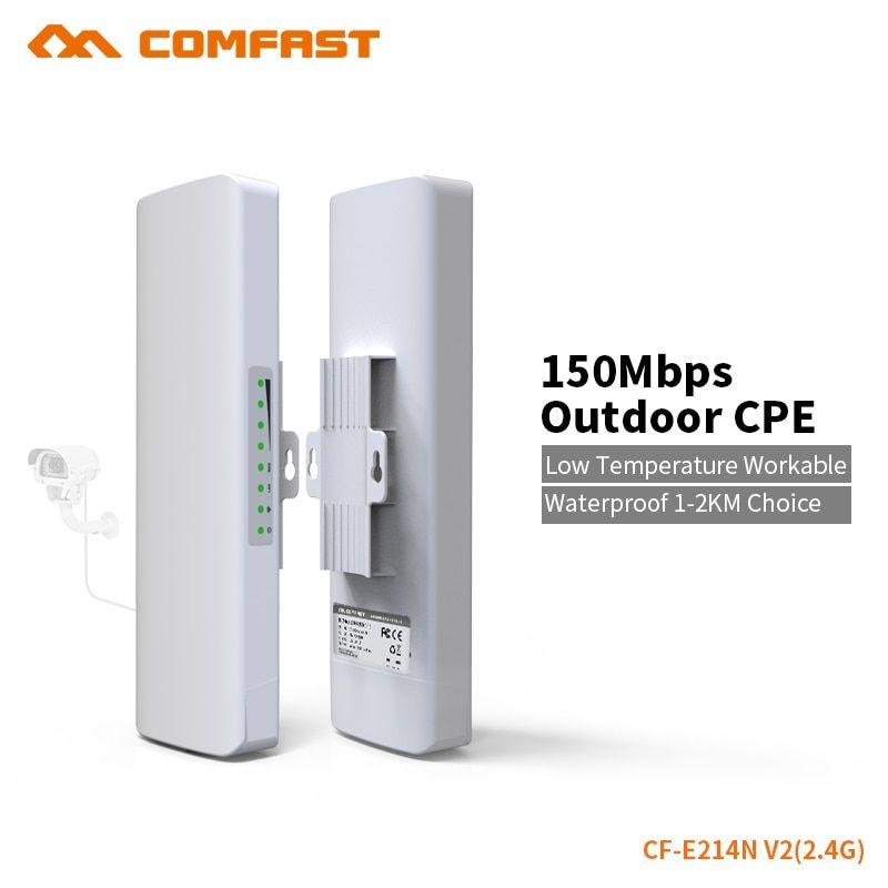 Outdoor Wifi Brigde 2-5km siganl booster/amplifier 2.4Ghz 150mbps 14dBi High Gain Outdoor Wifi Receiver COMFAST CF-E214N upgrade