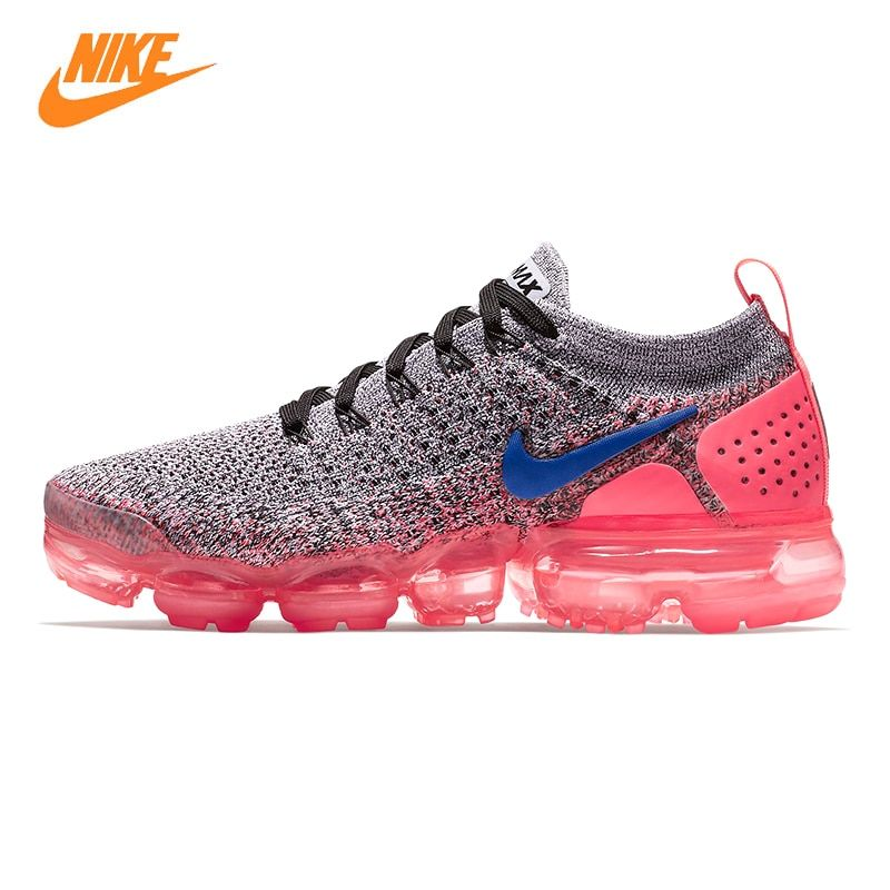 Nike Vapormax Flyknit 2.0 Women's Running Shoes, Pink & Grey, Shock-absorbing Non-slip Breathable 942843 104