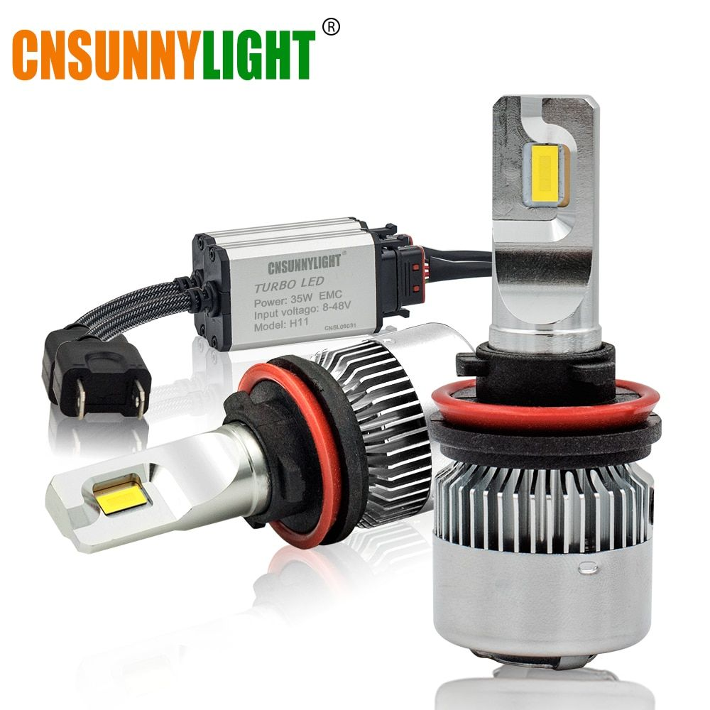 CNSUNNYLIGHT Car Headlights Mini Bulb H7 H11 LED H4 H1 H3 880 9005/HB3 9006/HB4 H13 9000Lm 6000K 12V 24V Auto Fog Light Headlamp