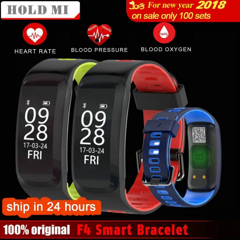 Original Hold Mi No.1 F4 Smart Bracelet Blood Pressure Blood Oxygen Heart Rate Monitor Smart band For IOS/Android
