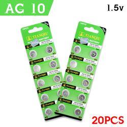 YCDC pile montre relogio celular pilas reloj pile bouton horloge batterijen batterie 20 X AG10 189 LR1130 SR1130 389A RW89 1.55 V