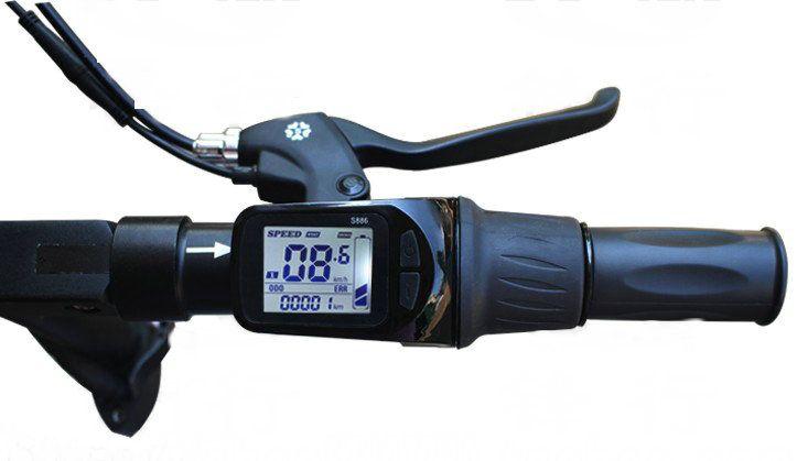24v36v48v60v 250w350w LCD display & half twist drossel + BLDC controller für elektro-bike scooter foldingbike intelligente bike