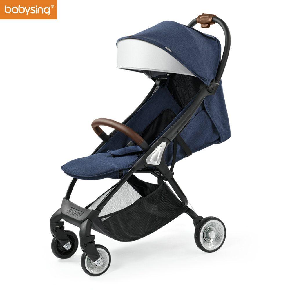 AUF VERKAUF Babysing E-GO Baby Kinderwagen Für Neugeborene Leichte Faltbare Alle Jahreszeiten Luxus Kinder Reise Kinderwagen Licht Kinderwagen