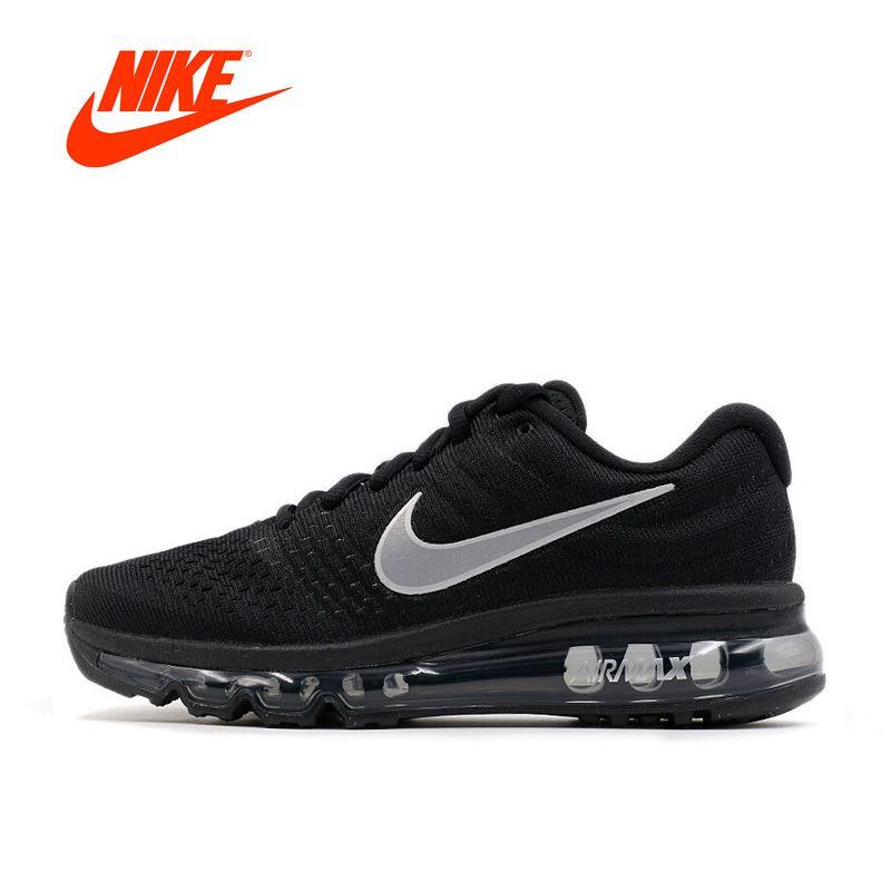 Оригинальный Новое поступление Официальный Nike Air Max 2017 дышащая Для Мужчин's Кроссовки спортивные Спортивная обувь