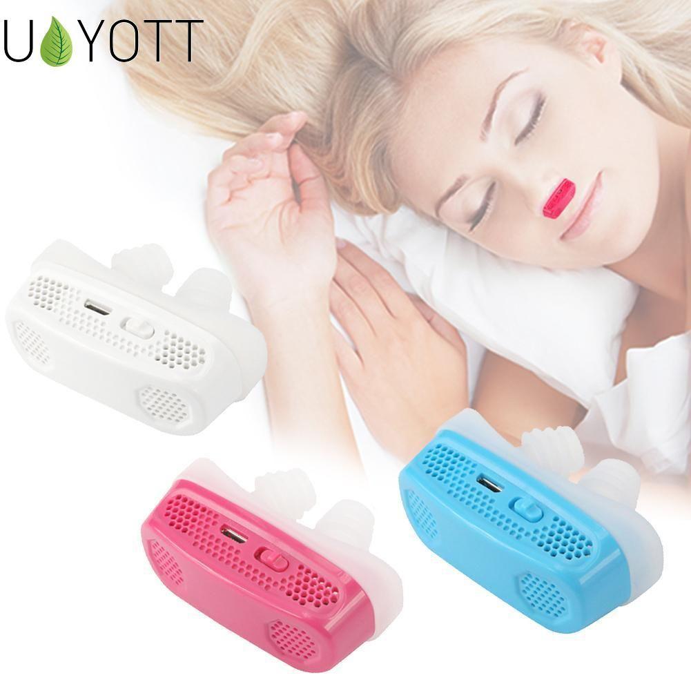 Mise à niveau électrique Silicone Anti ronflement nez arrêt appareil respiratoire garde aide au sommeil Mini dispositif de ronflement soulager le ronflement