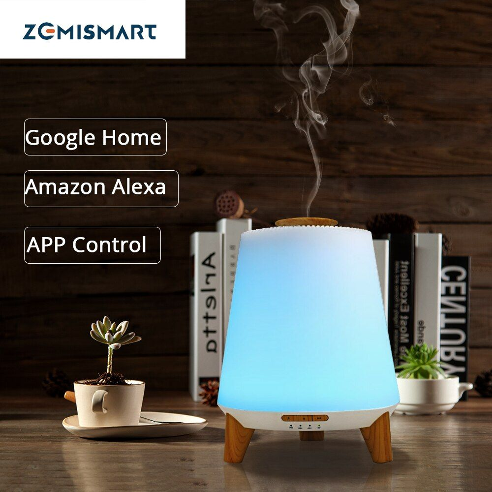 Smart Ätherisches Öl Aroma Diffuser Kühlen Nebel-luftbefeuchter RGB LED Schreibtisch Lampe Arbeit mit Alexa Google Startseite Voice APP Control