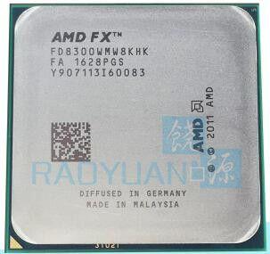 AMD FX-Serie FX 8300 FX8300 3,3 GHz Acht-Core 8 Mt Prozessor Sockel AM3 + FD8300WMW8KHK CPU 95 Watt FX-8300