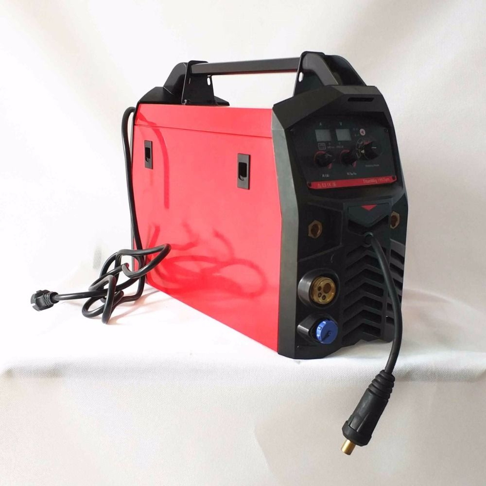 Professional 195A Synergic MIG Welding Machine MIG/MAG TIG MMA Hot Start Arc Force IGBT Inverter MIG Welding Equipment